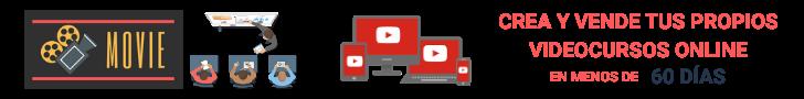 Banner MOVIE - Convierte tus conocimientos en Vídeocursos
